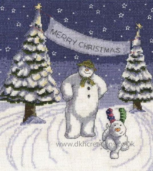 The Snowman and Snowdog Merry Christmas Cross Stitch Kit